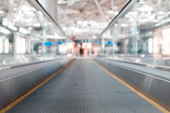 Travelator at the airport Stock Image