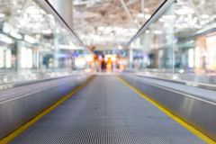 Travelator at the airport Royalty Free Stock Photos