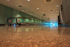 Travelator at airport terminal Royalty Free Stock Images