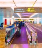 Travelator d'aéroport de Singapour Photographie stock