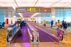 Travelator d'aéroport de Singapour Photo stock