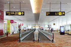 Travelator at New Delhi International airport Stock Images
