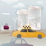Travelbag забытое на стенде иллюстрация вектора