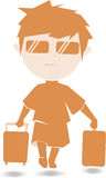 Travelboy. Travel journey luggage trip tourism tourist holidays freetime tour travelling Stock Photography