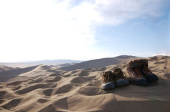Traveled the world together. Filmed in China's gansu dunhuang Royalty Free Stock Photos