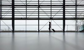 Traveler in airport terminal Stock Photography