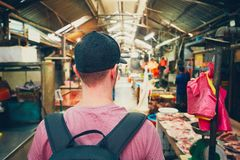 Traveler in Asia Royalty Free Stock Photography