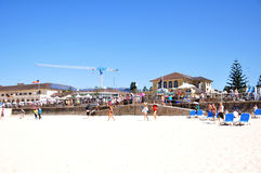 Traveler and Australian people come to Bondi Beach at Sydney Royalty Free Stock Photography