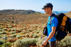 Traveler with backpack Royalty Free Stock Images