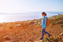 Traveler with backpack Royalty Free Stock Photography