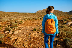 Traveler with backpack Stock Image