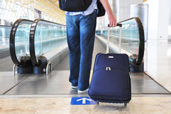 Traveler with a bag Royalty Free Stock Image
