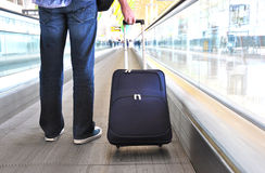 Traveler with a bag Stock Images