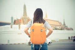 Traveler in Bangkok, Thailand stock photo