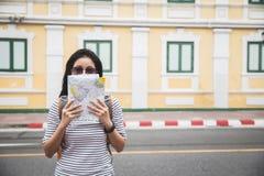 Traveler in Bangkok, Thailand royalty free stock photography