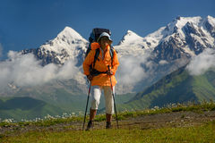 Traveler in beautiful place Stock Image