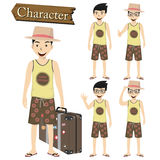Traveler character set vector illustration Stock Photo