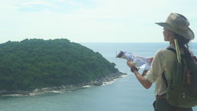 Traveler Come Down To The End Of The Journey stock footage