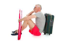 Traveler with delay Royalty Free Stock Images