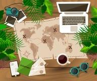 Traveler desktop concept Stock Photos