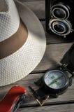 Traveler equipments Stock Photography