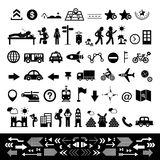 Traveler explorer icon set Stock Images