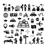 Traveler explorer icon Stock Photography