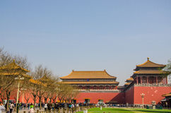 Traveler in the Forbidden City Beijing Royalty Free Stock Photography