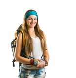 Traveler girl Royalty Free Stock Photos