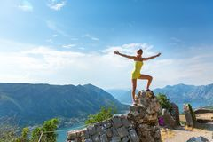 Traveler girl is enjoying the view Royalty Free Stock Photo