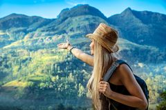 Traveler girl Stock Photos