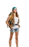 Traveler girl Stock Photography