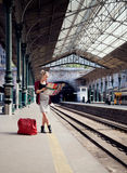 Traveler girl Royalty Free Stock Photography