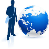 Traveler with Globe Royalty Free Stock Photography