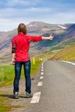Traveler / hitchhiker royalty free stock photo