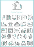 Traveler icons set  Royalty Free Stock Photos