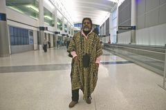 Traveler at an international airport, United States Royalty Free Stock Images