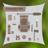 Traveler Kit Royalty Free Stock Images