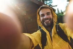 Free Traveler Man Making Selfie During His Travel Royalty Free Stock Image - 159907786