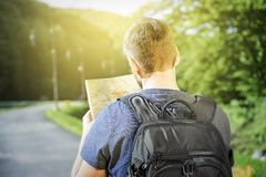 Traveler man Stock Photography