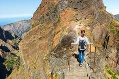 Traveler in mountains Royalty Free Stock Photo