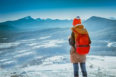 Traveler and nature Stock Photography