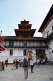 Traveler and nepalese people travel and pray Hanuman Statue of Hanuman Dhoka Royalty Free Stock Photo