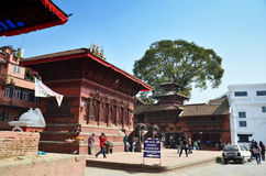 Traveler and nepalese people travel and take photo Basantapur Durbar Square Royalty Free Stock Photo