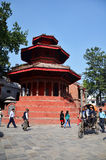 Traveler and nepalese people travel and take photo Basantapur Durbar Square Royalty Free Stock Image