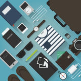 Traveler objects illustration Stock Images