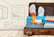 Traveler packing Stock Photo