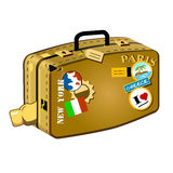 Traveler's suitcase. Travel suitcase for long distances Royalty Free Stock Photography
