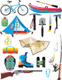 Traveler set Royalty Free Stock Photo