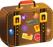 Traveler suitcase Stock Image